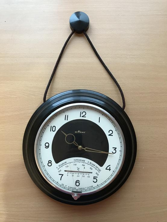 Часы Маяк с барометром