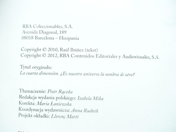 Czwerty wymiar (наш світ тільки тінь іншого)  2012р. (польська мова), фото №3