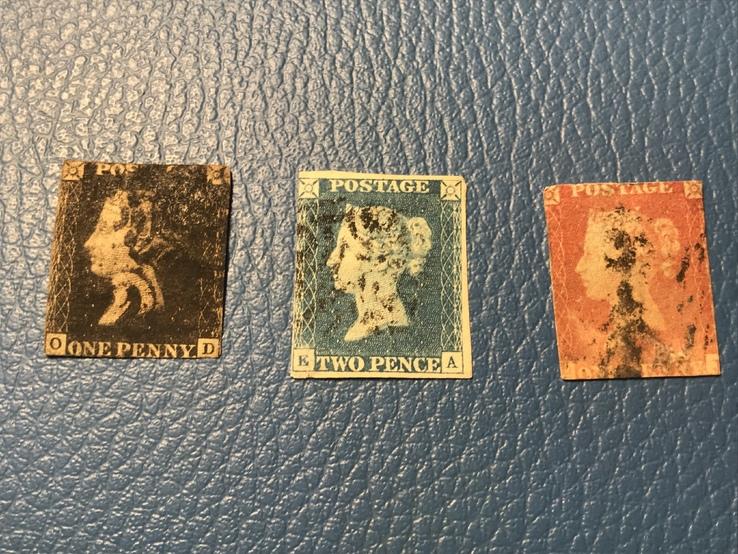 Первые марки мира. Чёрный пенни.