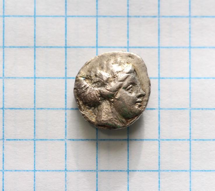 Древняя Греция, тетробол  340-330 гг. до н.э.