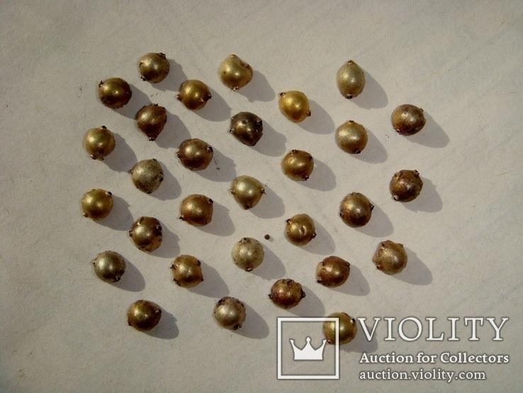 Скифские золотые нашивки - 30 шт