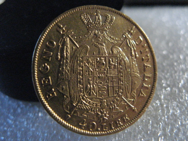 Италия 40 лир 1812г.  GOLD вес 12,85гр.