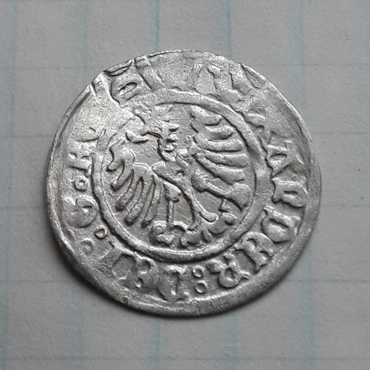 Коронный полугрош Александра Ягеллончика (1491-1506 г.г.) с двойным ударом