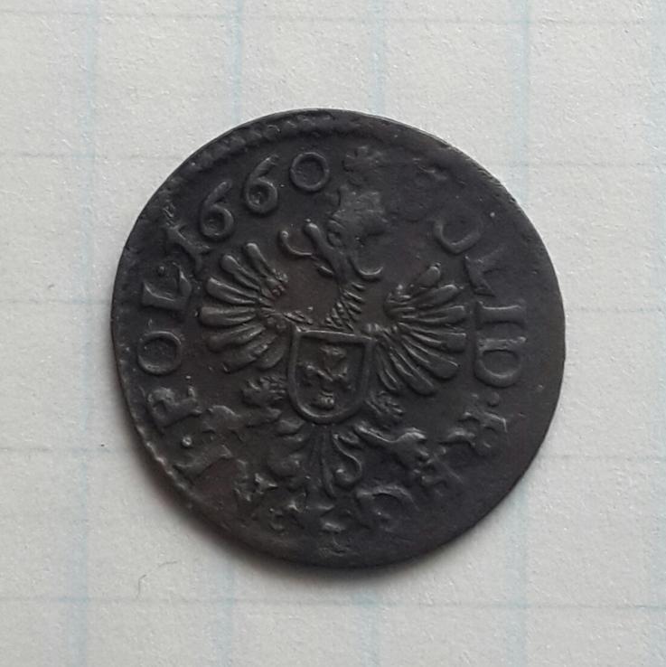 Коронный солид (боратинка) Яна Казимира 1660г.