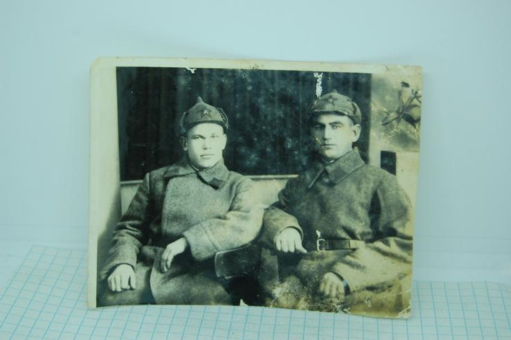 Фото двух красноармейцев. 113х86мм, фото №2