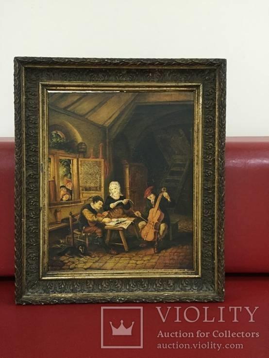 Картина ''Трактир'', Европа, малые голландцы (копия)., фото №2