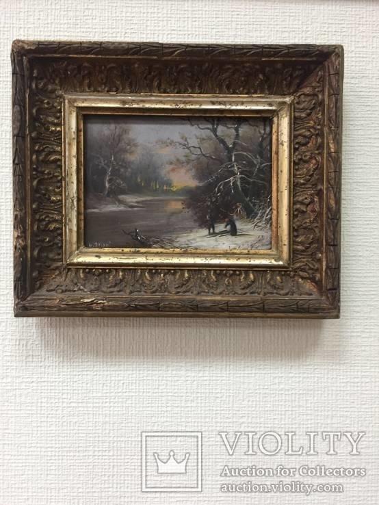 """Картина  """"Зимний пейзаж"""", Европа., фото №2"""