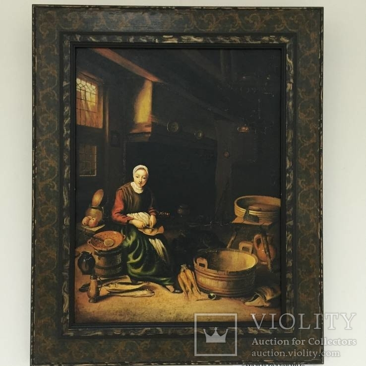 Картина ''Кухарка'', Европа, малые голландцы (копия)., фото №2