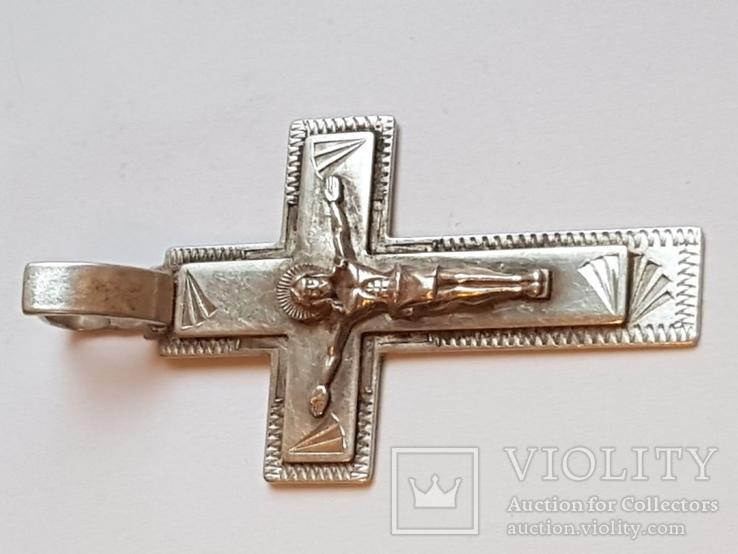 Крестик нательный. Серебро 925 проба., фото №5