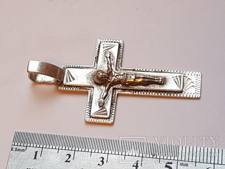 Крестик нательный. Серебро 925 проба., фото №6