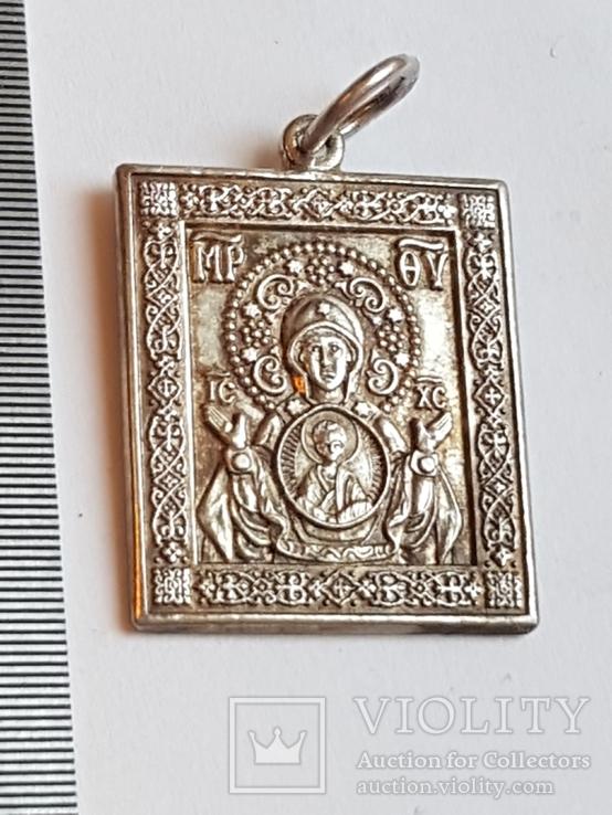 Иконка нательная. Серебро 925 проба., фото №5