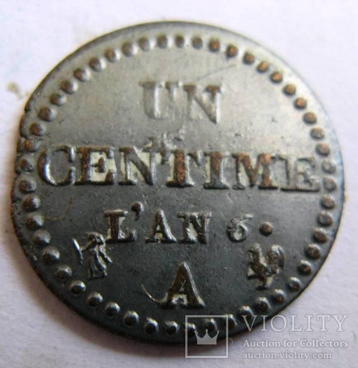 Франция, Первая Республика, UN CENTIME L'AN 6 (1797-1798)