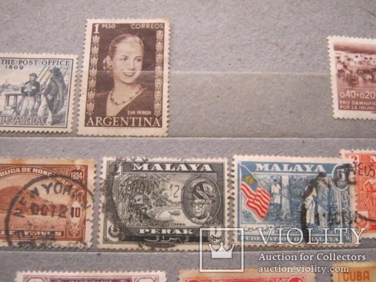 Почтовые марки разные 30 шт., фото №9