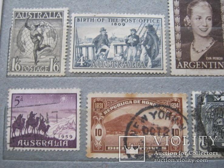 Почтовые марки разные 30 шт., фото №10