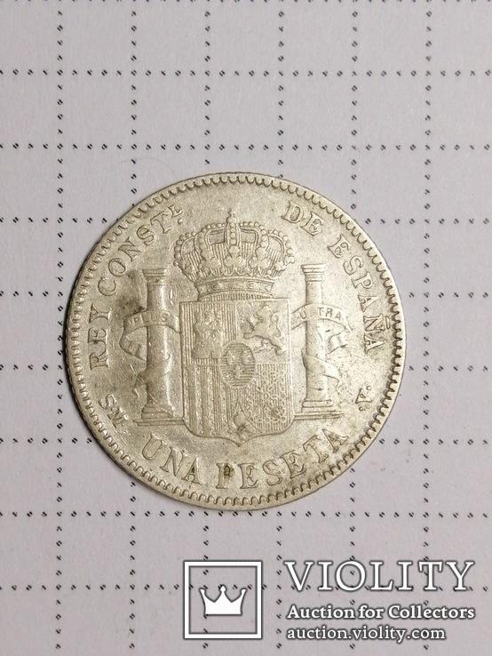 1 песета 1901 SMV Испания, серебро