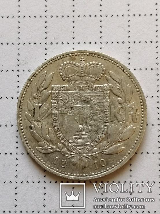 1 крона 1910 Лихтенштейн, серебро