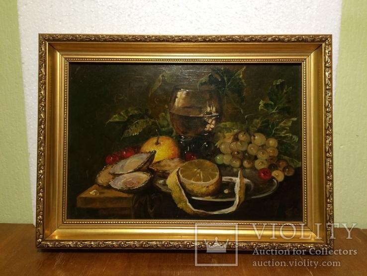 Кухонный натюрморт. Подпись автора.