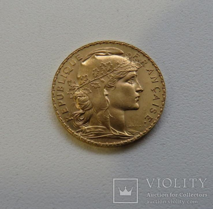 20 франков 1914 год ФРАНЦИЯ золото 6,45 грамм 900`