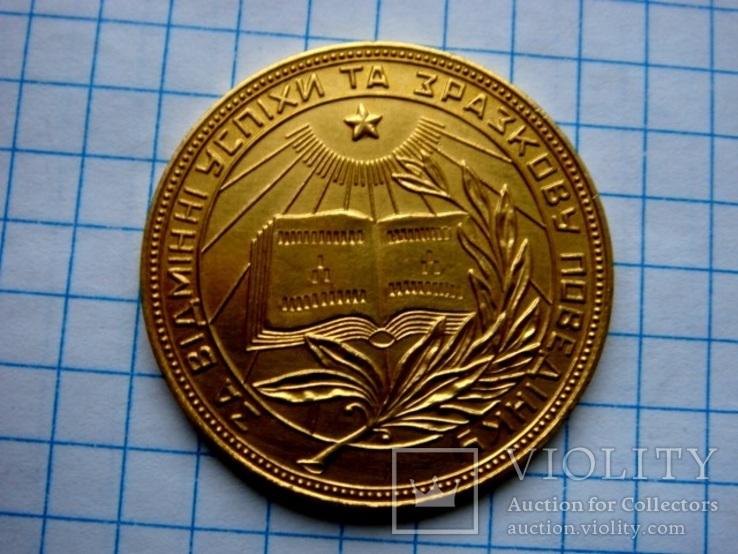 Школьная медаль золотая