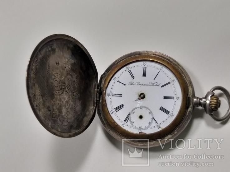 Омега Omega карманные часы в серебряном корпусе