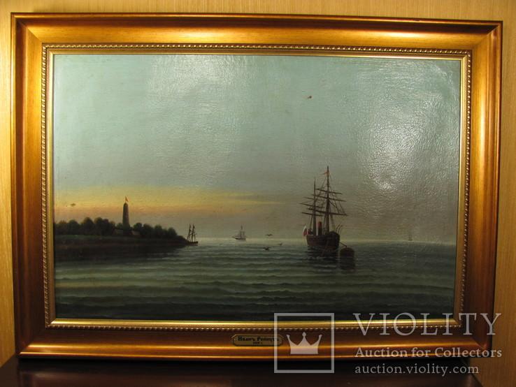 Морской пейзаж Иванъ Рейнусъ 1909 г.