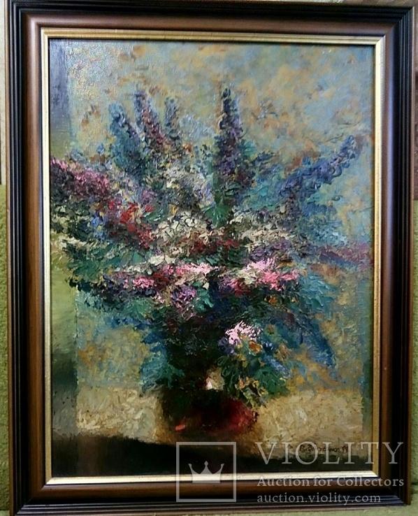 Картина 99г.маслом на холсте с инициалами художника 54x70