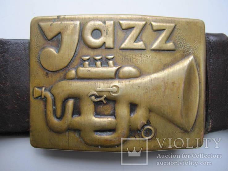 Ремень бляха Jazz , пояс , пряга ., фото №2