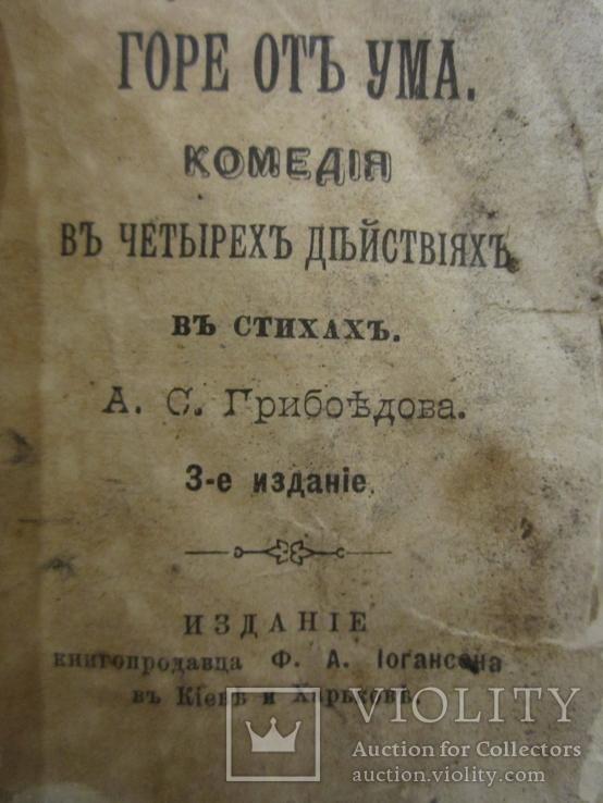 1894 год Горе от ума Грибоедов А.С. карманный 5*7см, фото №9