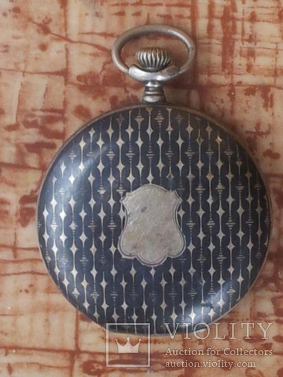 Старинные карманные серебренные часы Halmark. Швейцария