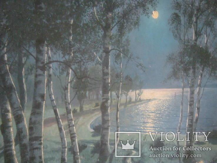 """Светлая ночь"" х.м.,70х100см.,1915г.,авт., фото №4"