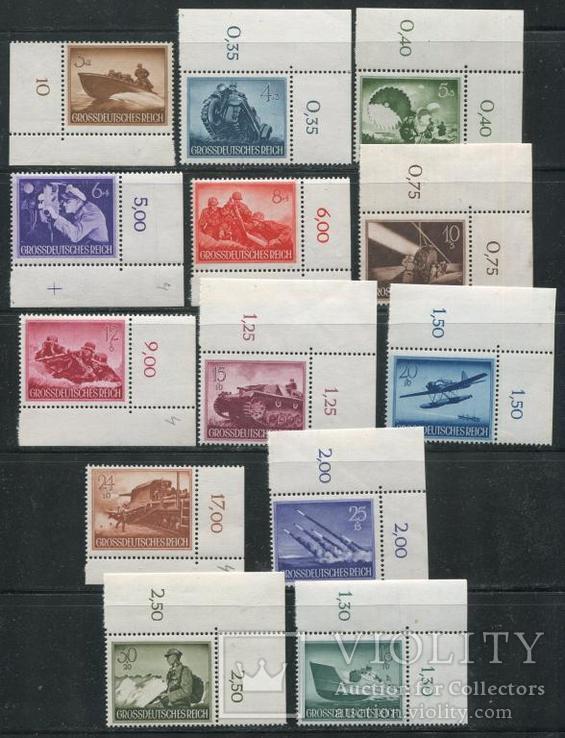 1944 Рейх Вермахт техника война MNH ** полная серия с угловыми полями 873 - 885
