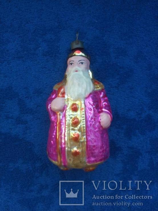 Ёлочная игрушка СССР - Царь Додон из сказки о Золотом Петушке, 1950-е годы