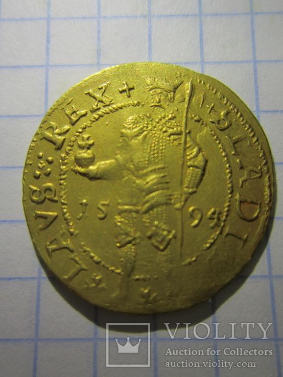 Дукат 1594 год.Transylvania, Sigismund Bathori, Nagybanya, Gold (3.48g)