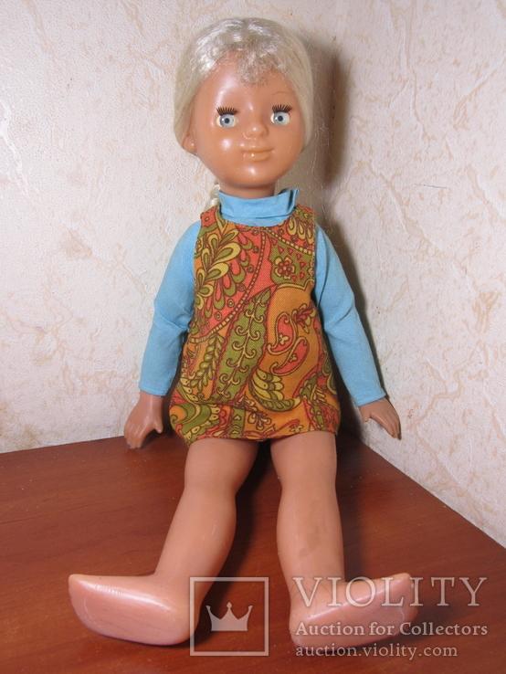 Кукла париковая на резинках 49 см.