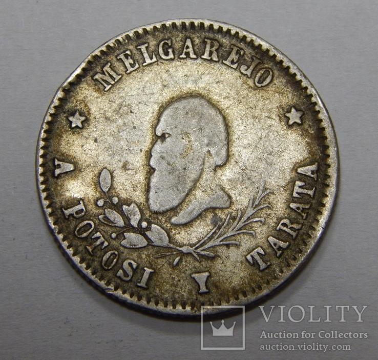 1/4 мелгареджо, 1868 г Боливия