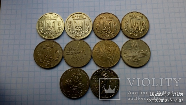 1 грн. с 1995 по 2015 г.г.