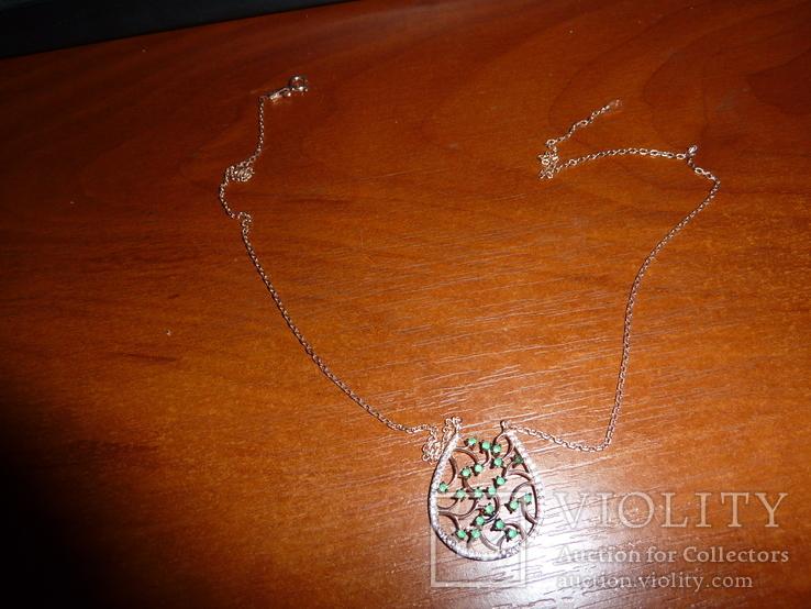 Ожерелье с натуральными изумрудами, фото №2