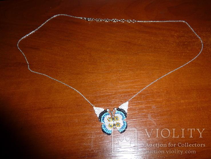 Ожерелье с бирюзой и шпинелью