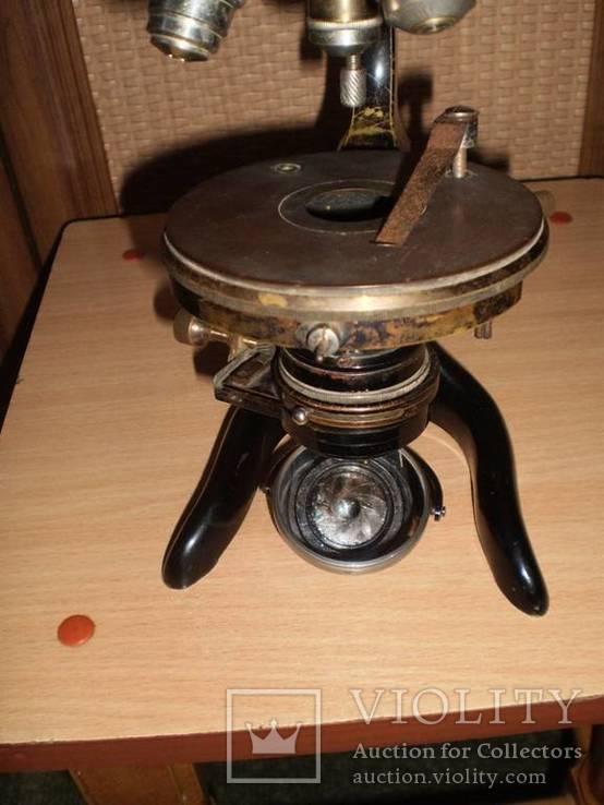 Микроскоп старинный E. LEITZ  WETZLAR №136142, фото №3