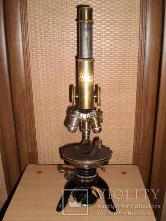Микроскоп старинный E. LEITZ  WETZLAR №136142, фото №4