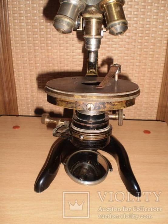 Микроскоп старинный E. LEITZ  WETZLAR №136142, фото №5