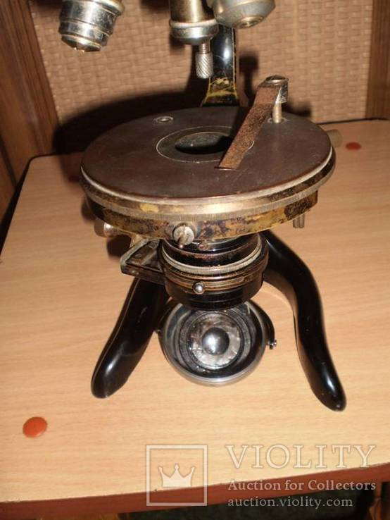 Микроскоп старинный E. LEITZ  WETZLAR №136142, фото №10