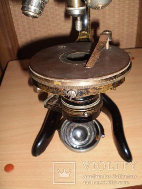 Микроскоп старинный E. LEITZ  WETZLAR №136142, фото №11