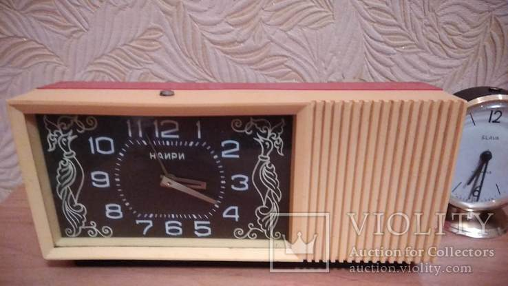 Часы будильник Наири музыкальный + бонус часы Янтарь, фото №2