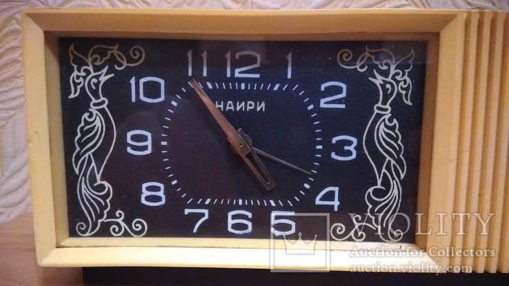 Часы будильник Наири музыкальный + бонус часы Янтарь, фото №3