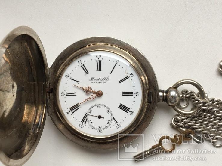 Часы Карманные Швейцария Perret&Fils Brenets 1850-60.серебром