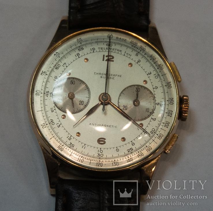 Золотые часы Chronographe Suisse Швейцария