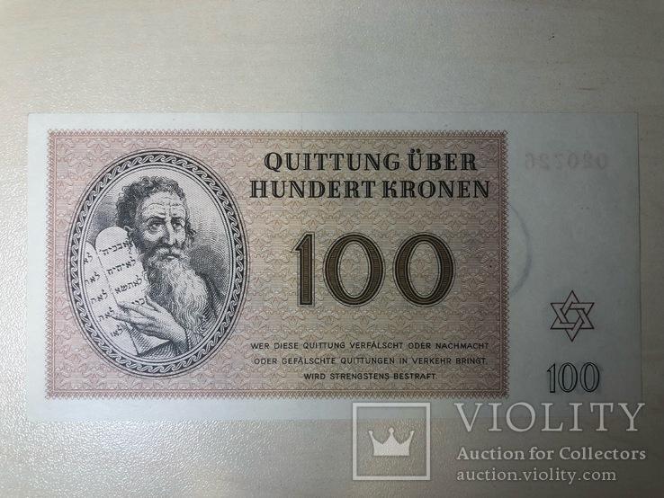 Терезиенштадт 1943 год 100 крон UNC