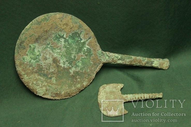 Киммерийские предметы - зеркало и бритва