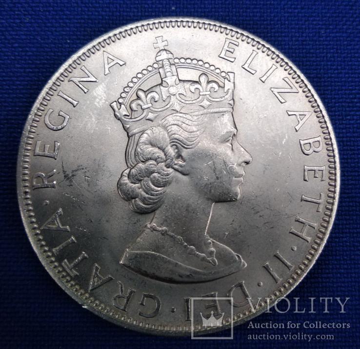 1 крона 1964 год, Бермуда, серебро.